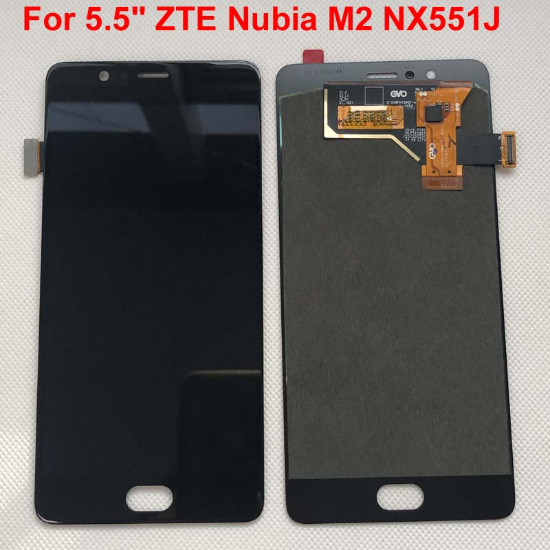 "Tested AAA quality For 5.5"" ZTE Nubia M2 NX551J LCD Screen Display+Touch Panel Digitizer For ZTE Nubia M2 Assembly Lcd Display(China)"