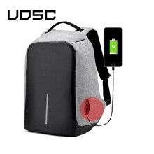 Рюкзак UOSC с USB зарядкой для мужчин, многофункциональный дорожный Водонепроницаемый школьный ранец с защитой от кражи для ПК, 15 дюймов