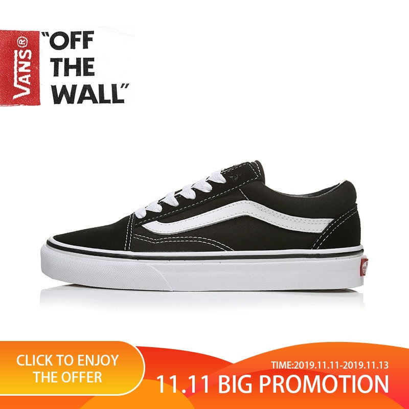 VANS OLD SKOOL Men And Women Shoes Original Authentic Classic Skateboard Shoes Low Fashion Couple Black Spring2019 VN000D3HY28