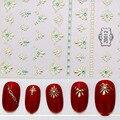 Модные Красочные зимние стильные 3D наклейки Стразы для ногтей, 24 дизайна, наклейки для ногтевого дизайна, аксессуары для самостоятельного м...
