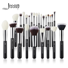 Makeup-Brushes-Set Eyeshadow Blush Hair-Foundation-Powder Jessup Professional Natural