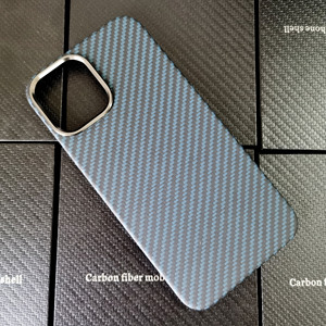 Image 1 - Blue Matte Ultra Light 100% Real Carbon Fiber Case Cover For iPhone12 Mini Case For iPhone 12 Pro Max Lens Protection