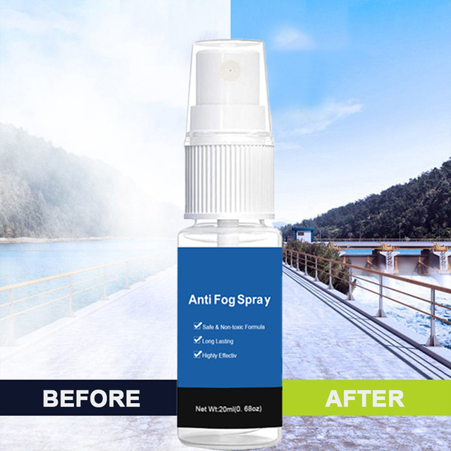 Cleaning Agent Car Wash 20ml Anti-Fog Spray Car Window Helmet Lens Glasses Glass Long Lasting Defogger Curing Agent 1