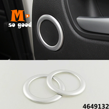 For Ford C-MAX 2013 2014 2015 ABS Plastic Car styling accessories-Car rear door Above inner Speaker Audio Horn ring Cover Trim