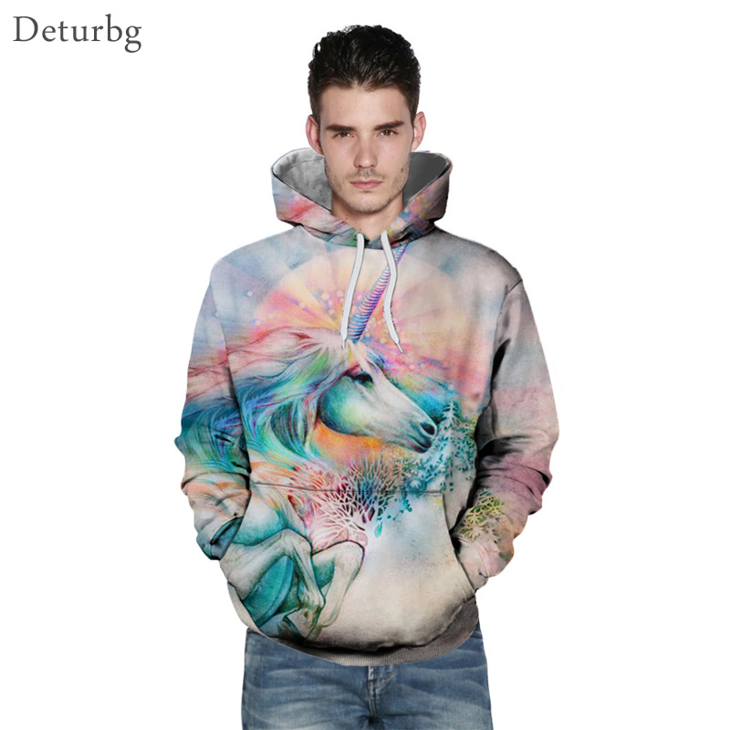 Long Sleeve 3D Printing Men Hoodies and Sweatshirts Outwear