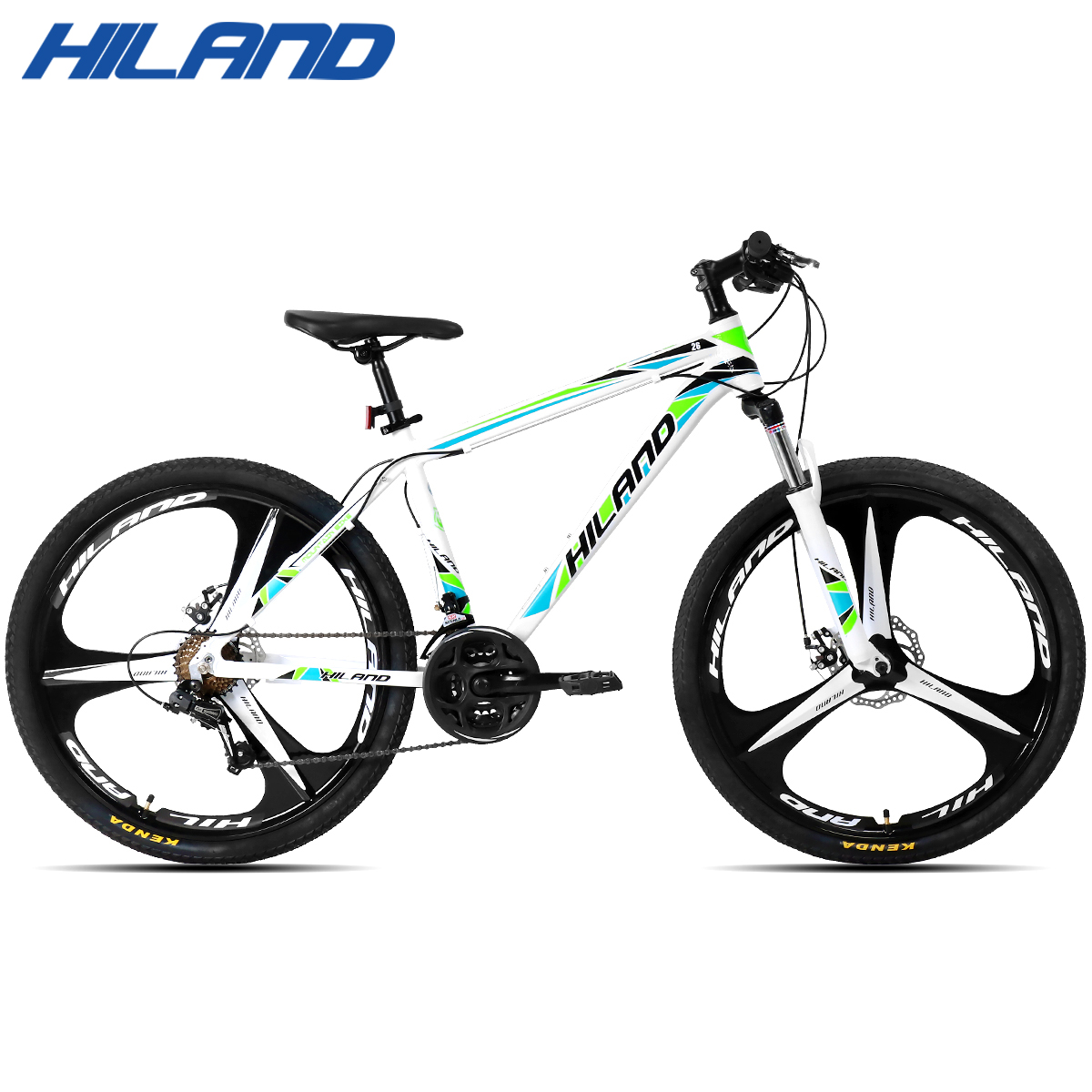 HILAND 21 Speed Aluminum Alloy Mountain Bike Adult Suspension Bicycle with Shimano Tourney and Microshift Shifter Free Shipping in Bicycle from Sports Entertainment