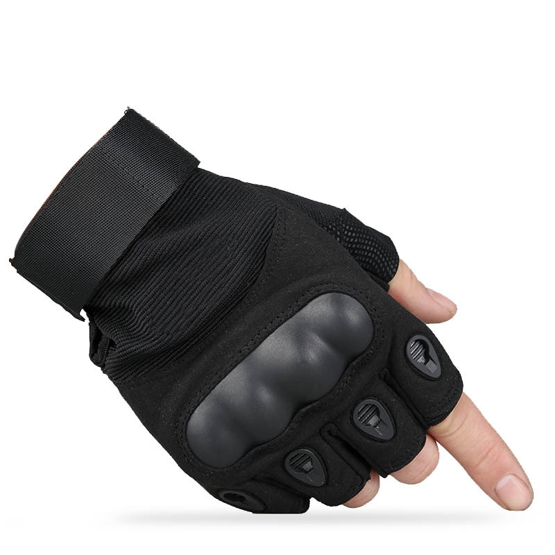 Find Thousand Cold O Half-finger Gloves Men's Tactical Sports Half Finger Cycling Protection Anti-slip Fitness Army Fans Blackha