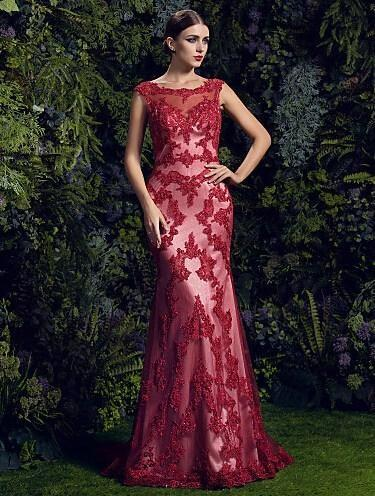 vestido de festa sexy backless appliques 2018 formal mermaid party evening elegant casual women gown mother of the bride dresses
