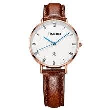 TIME100 Light Luxury Fashion Watch Simple Light Leather Belt Disc Calendar Ladies Watch Retro Wild Quartz Watch Female все цены