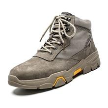 купить 2019 New Winter Boots Men Fur Warm Waterproof Snow Men Shoes Plush Footwear Male Non Slip Rubber Ankle Boots Fashion Plus Size дешево