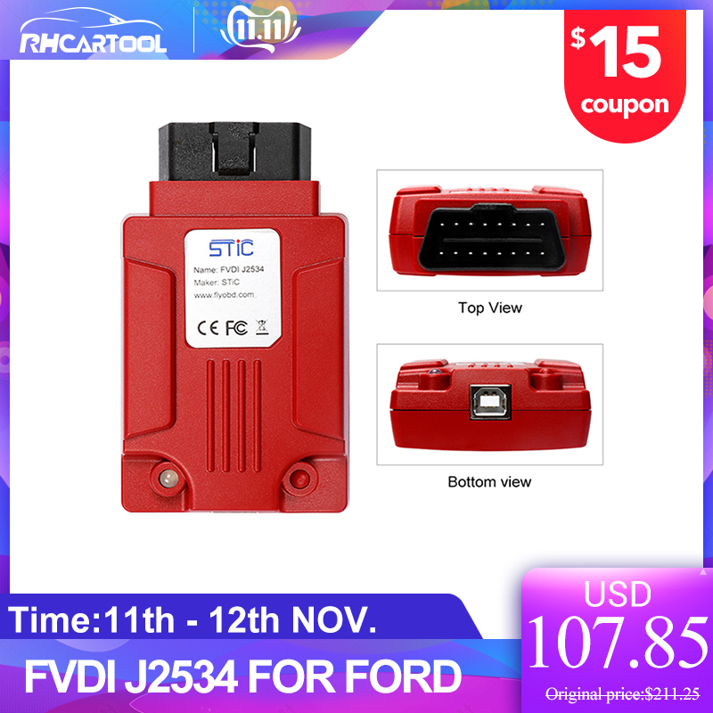 OBD2 Newest FVDI J2534 Diagnostic Tool For Fo-rd & Mazda Support Online Module Programming Support Most Of ELM327 Software