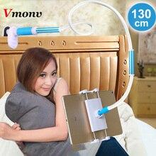 Vmonv 130 センチメートルデスクトップタブレット電話スタンドホルダー調整可能なマウント ipad のタブレット 4 に 12.9 インチのベッドタブレット pc スタンド金属サポート
