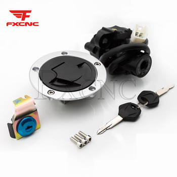 For Kawasaki Z1000 2010-2016 12V Motorcycle Ignition Key Switch Seat Lock Fuel Tank Gas Cap Cover Set
