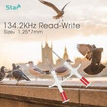 מיני גודל 1.25x7mm Microchip מזרקים ISO11784/5 חיות מחמד בעלי החיים מזרק 134.2KHz Rfid שבב שתל וטרינר מזרק בעלי החיים מזהה כלב תג