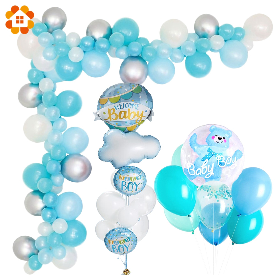 pack of 100 AEX Blue Birthday Balloon Sticks with Cups