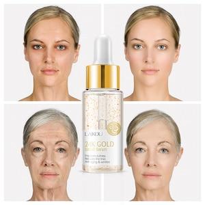 24K Gold Serum Face Cream Anti-Aging Wrinkle Lift Firming Whitening Moisturizing Hyaluronic Acid Professional Skin Care TSLM2