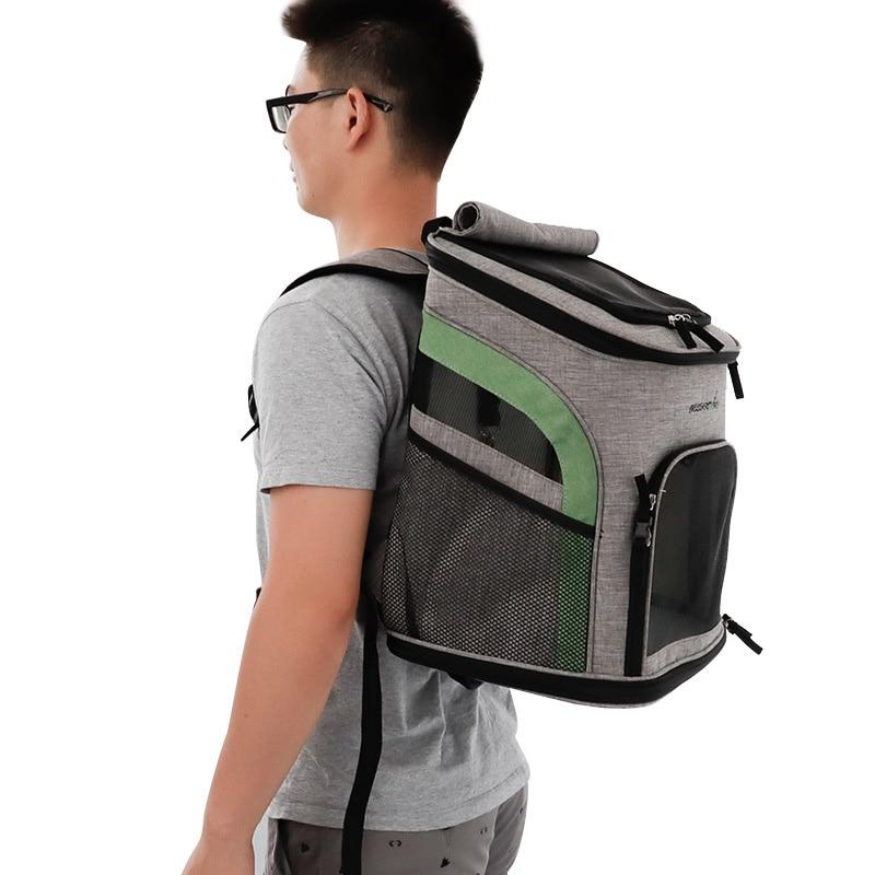 Nouveau sac pour chien respirant chien chiot sac à dos grande capacité chat sac de transport Portable en plein air voyage animal transporteur fournitures pour animaux de compagnie