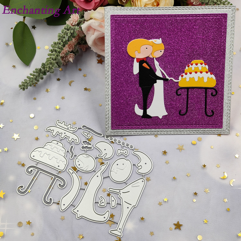 Wedding groom and brid Metal Cutting Dies Stencils for DIY Scrapbooking/photo Album stamps Decorative Embossing DIY Paper Cards