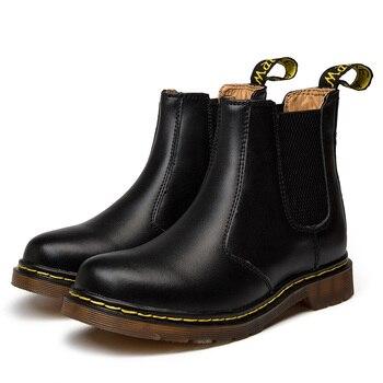 Chelsea Stivali Per Gli Uomini del Cuoio Genuino Dr. Scarpe Da Moto Caldi di Inverno Della Pelliccia Delle Donne Impermeabili Martens Stivali Autunno Caviglia