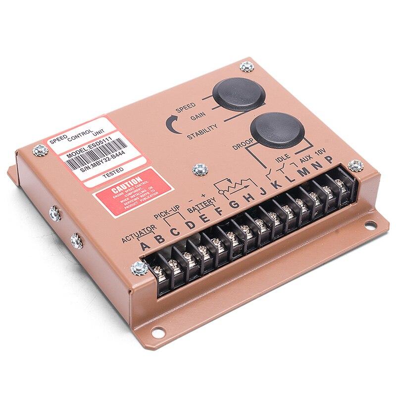 Régulateur de vitesse du moteur ESD5111 régulateur de réglage du groupe électrogène alimentation ca générateur partie 12V 24V vitesse Govornor
