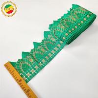 Precio al por mayor Accesorios de adorno bordado Vintage, cinta para manualidades para mujer india, decoración de vestidos, encajes de guipur
