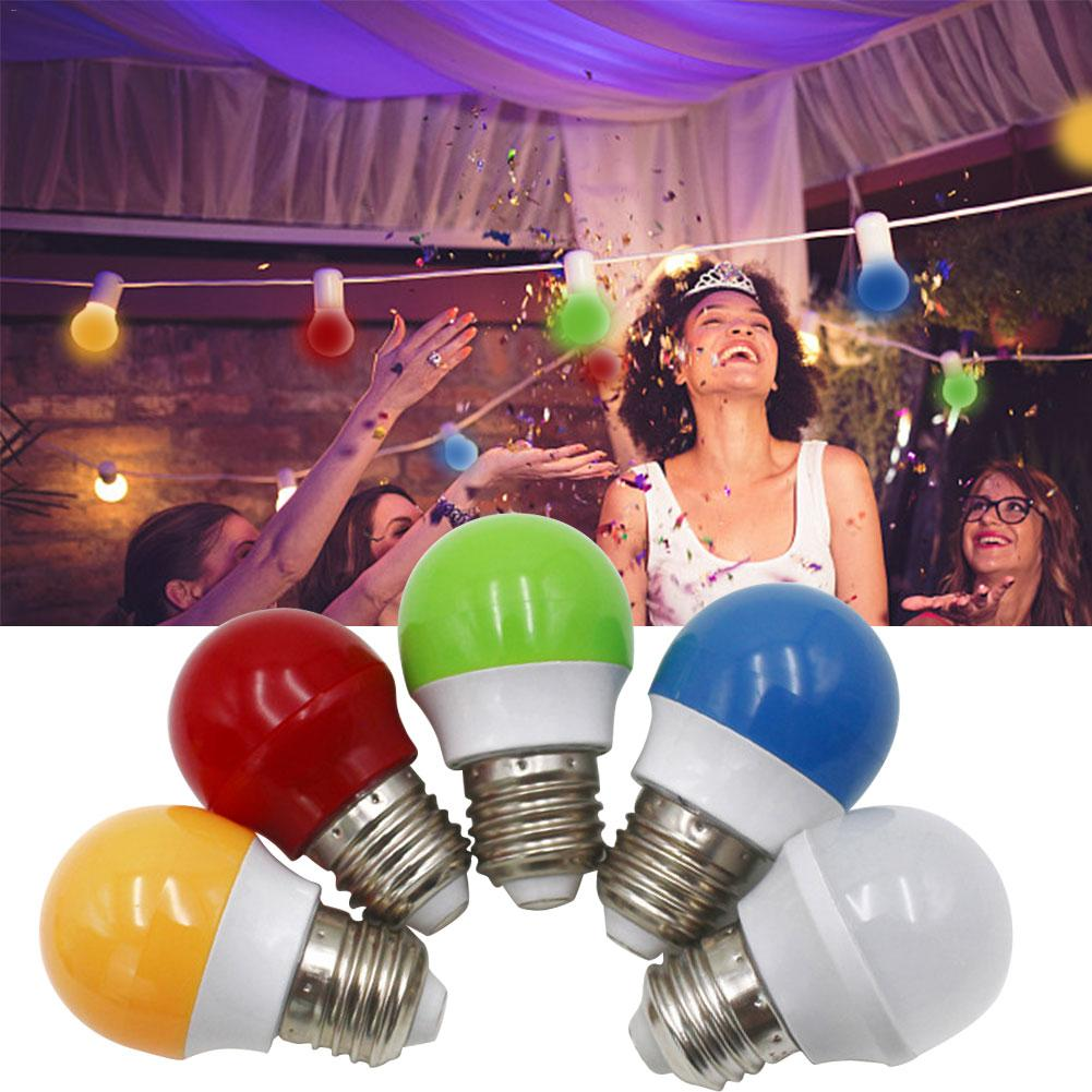 E27 Color LED Bulb 0.5W LED Small Bubble Light Christmas Party KTV Bar Decoration Lamp Room Entertainment Event Decor AC165-220V