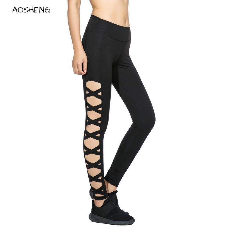 Women Black High Waist Leggings Female Mesh Leggings Stitching Fashion Push High Leggings Female Fitness Leggings Slim Pants