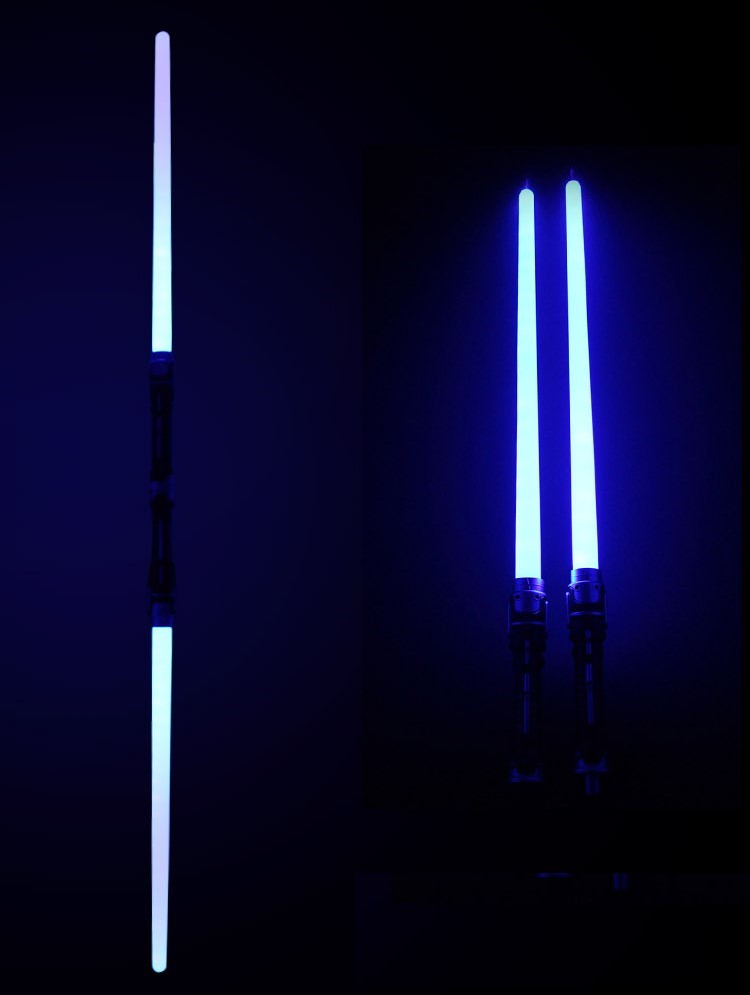 Indoor Toys Light Toy Sword Two In One Laser Sword Sound Effect Blue Light Two Pack Boys
