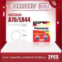 PANASONIC – piles alcalines originales LR44 A76 1.5V, 2 pièces/lot, AG13 SR1154 357, pile bouton 0% Hg pour calculatrice