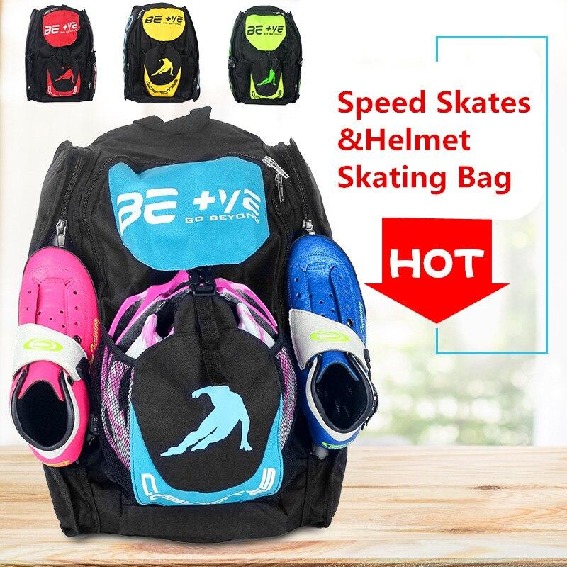 Original BE + VE aller au-delà des patins de vitesse en ligne chaussures conteneur vitesse patines casque extérieur sac de patinage sac à dos support 4X110mm