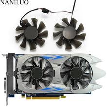 цена на 2PCS/lot 75MM GA82O2M GTX750 GTX750Ti Cooler Fan For GALAXY KFA2 GeForce GTX 750 750Ti Graphics Video Card Fan