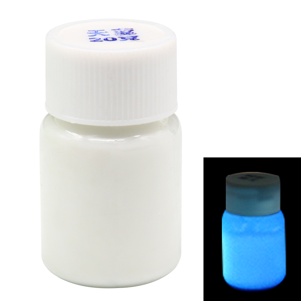 20g Azure Luminous Paint Phosphor Pigment Shining For DIY Home Party Decoration Fluorescent Paint Acrylic Paint Glow In The Dark