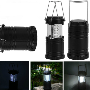 2pcs 30 LED Collapsible Lightweight Portable Camping Lantern Hanging Tent Flashlight Light Emergencies For Hiking Camping 4pcs led camping tent pavilion lantern yard outdoor hiking tent light camping hanging lamp