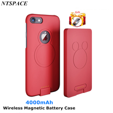 4000mAh Extended Phone Battery Power Case For iPhone 6 Portable Battery Charge Case For iPhone 6s Wireless Magnetic Battery Case