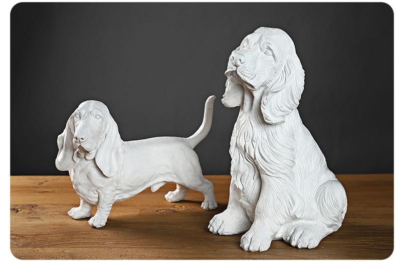 Strongwell design moderno gesso estátua cão modelo