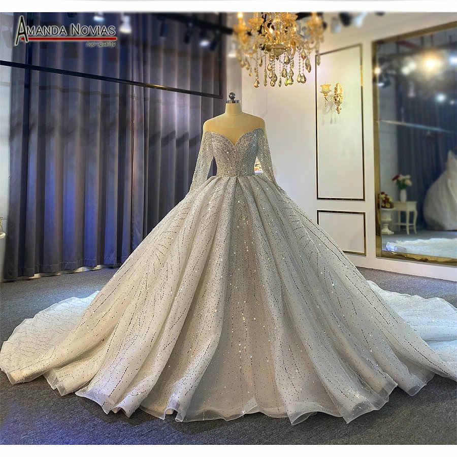 Dubai Style Full Beading Wedding Dress Puffy Ball Gown Lebanese Weddings 2021 Wedding Dresses Aliexpress