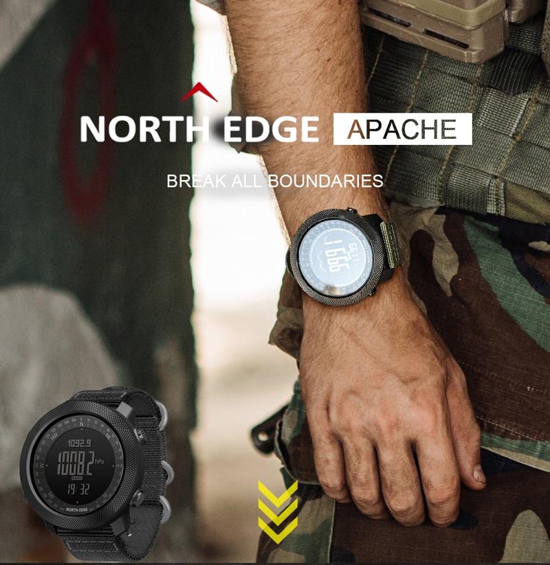 NORTH EDGE Men's sport Digital Beautiful watch 2021