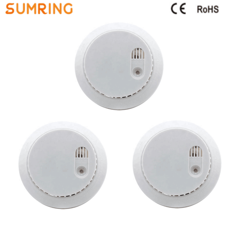 Smoke Detector 9VDC Battery Operated Fire Detection Alarm With Indicator Light