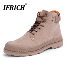 New Cool Military Combat Boots For Men Rubber Sole Working Mens Designer Casual Shoes Non-Slip Ankle