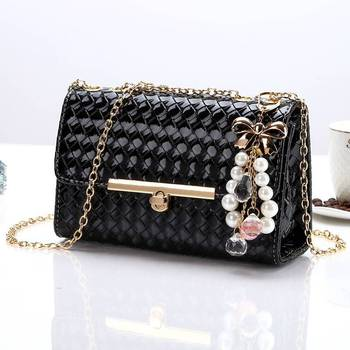New Style Bag WOMEN'S Cross-body Bag WOMEN'S Bag Bag Korean-style Bag with Chain Shoulder Bag/ Hand Bag Versatile Fashion Fashio