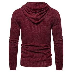 Image 3 - NEGIZBER New Spring Mens Sweatshirts Solid Casual Hoody Men Elasticity Slim Fit Pullover Hoodies Men Streetwear Sporting Hoodies