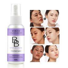 50ml Natural Whitening Bb Cream Spray Bottle Foundation Liquid Facial Whitening Moisturizing Beauty Cosmetics Makeup Concealer pba bb 50ml