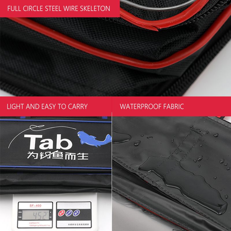 Image 2 - 120cm Nylon Fishing Bag Outdoor Multifunctional Fishing Rod Pole Lure Storage Bag Fishing Tackle  Storage Pouch Holder XA141GFishing Bags   -