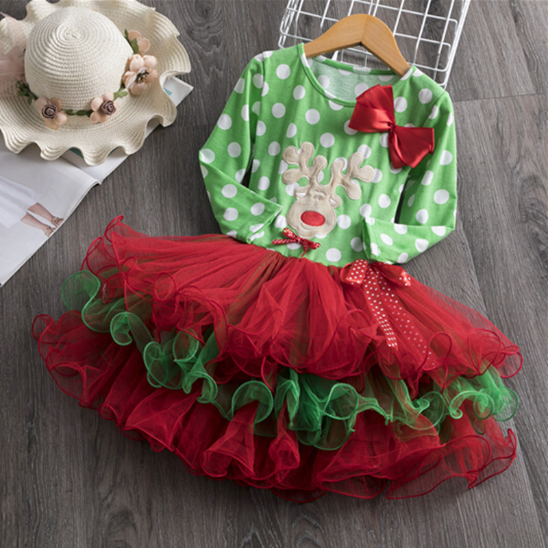 H6c9ac8ba21fc4a2483d712ccedc5ef2dO Fancy New Year Baby Girl Carnival Santa Dress For Girls Summer Minnie Mouse Holiday Children Clothing Party Tulle Kids Costume