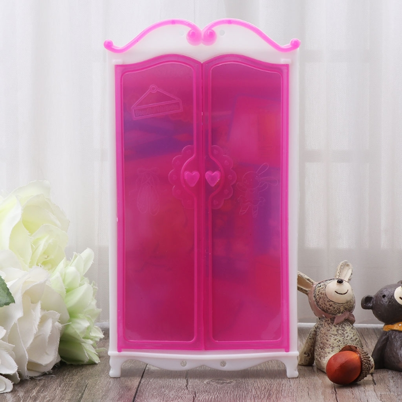 Princess Furniture Wardrobe Barbie Dolls Toys Doll House Closet Toy Accessories Y4QA