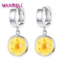 Woman Earrings Jewelry Charms Flowers Eardrop-Dangler 925-Sterling-Silver New-Fashion
