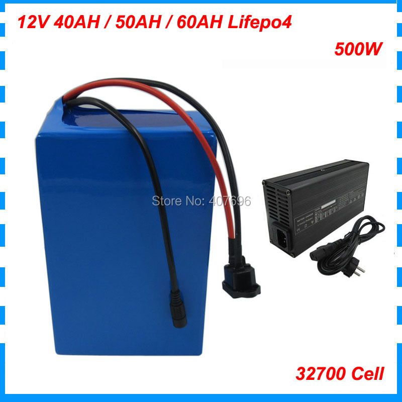 500W 4S <font><b>12V</b></font> <font><b>30AH</b></font> 40AH 50AH 60Ah <font><b>LiFePO4</b></font> <font><b>battery</b></font> <font><b>pack</b></font> 12 Volt 14.6V <font><b>battery</b></font> akku Deep cycle 32700 6000MAH Cell 5A Charger image