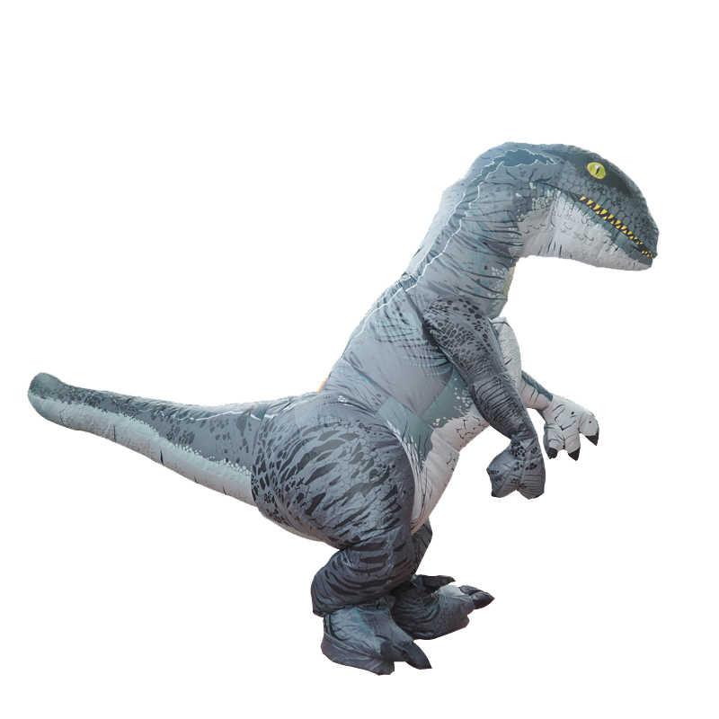 Kỷ JuRa Trưởng Thành Velociraptor Trang Phục Bơm Hơi T Rex Raptor Trang Phục Cosplay Khủng Long Halloween T Rex Trang Phục Dành Cho Nữ