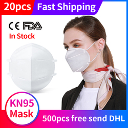 KN95 Mask Anti Dust Mouth Face Mask N95 KF94 FFP2 Mask 마스크 Level 95% Filtration Mouth Cover Dust Masks Respirator Fast Ship 1
