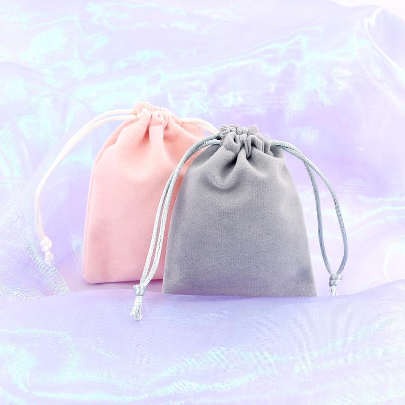 Wholesale Velvet Pouches 7*9cm 5pcs/lot Velvet Bags Jewelry Pouches Earrings Bracelet Packaging&Display Drawstrings Bags
